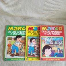 Tebeos: MARCO DE LOS APENINOS A LOS ANDES BRUGUERA 1977 NUMEROS 1-2-3 MUY BUEN ESTADO. Lote 118269691