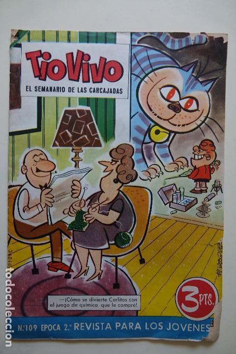 TIO VIVO EL SEMANARIO DE LAS CARCAJADAS Nº 109 ÉPOCA 2 REVISTA PARA LOS JÓVENES AÑO 1963 (Tebeos y Comics - Bruguera - Tio Vivo)