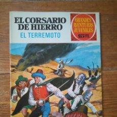 Tebeos: JOYAS LITERARIAS JUVENILES SERIE ROJA N 57 EL CORSARIO DE HIERRO TERREMOTO. Lote 118715711