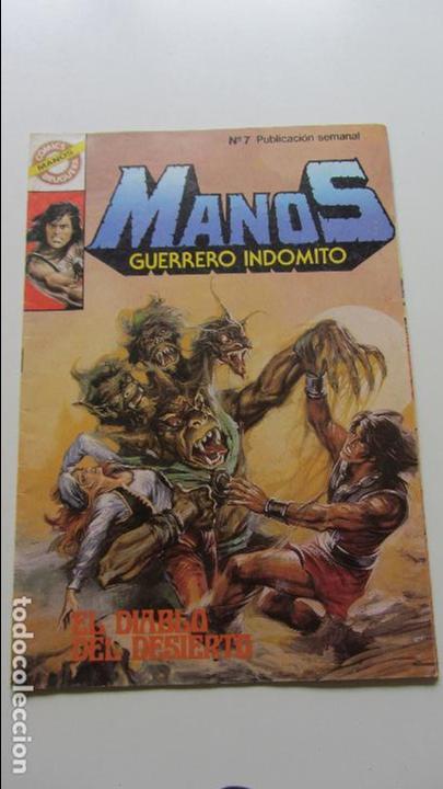 MANOS GUERRERO INDOMITO ,Nº 7 BRUGUERA-1984 CS114 (Tebeos y Comics - Bruguera - Otros)