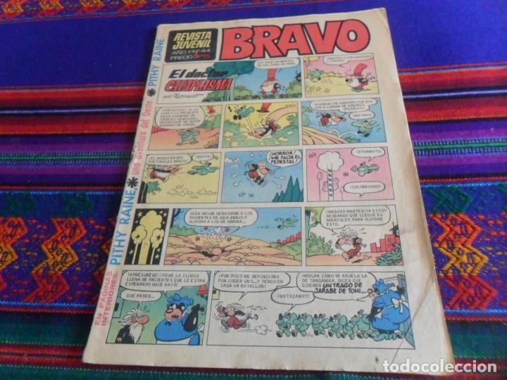 REVISTA JUVENIL BRAVO Nº 44 CON PITHY RAINE. BRUGUERA 1968. 5 PTS. BUEN ESTADO. REGALO Nº 8. (Tebeos y Comics - Bruguera - Bravo)