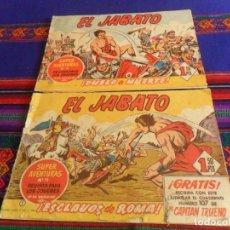 Tebeos: EL JABATO ORIGINAL NºS 1 Y 2 ESCLAVOS DE ROMA Y DUELO A MUERTE. BRUGUERA 1958. 1,50 PTS. RAROS.. Lote 118923619