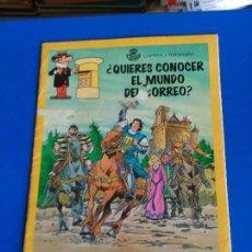 Tebeos: QUIERES CONOCER EL MUNDO DEL CORREO - CAPITAN TRUENO Y CARPANTA 1995. Lote 119622819