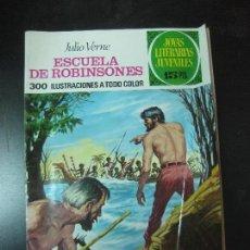 Tebeos: ESCUELA DE ROBINSONES. JULIO VERNE. JOYAS LITERARIAS Nº 108. BRUGUERA 1974. Lote 119970515
