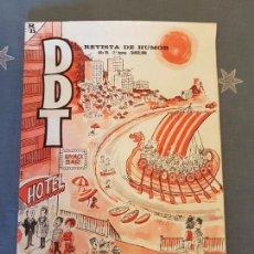 Tebeos: DDT REVISTA DE HUMOR AÑO XV 2ª EPOCA EXTRA DE VERANO 15 PTS AÑO 1965 BUEN ESTADO,VER DETALLES.. Lote 120771103