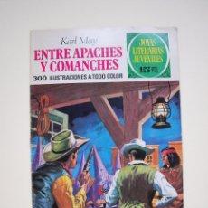 Tebeos: KARL MAY. ENTRE APACHES Y COMANCHES Nº 36 - 1ª EDICION LABERINTO - JOYAS LITERARIAS JUVENILES. Lote 121075415
