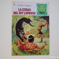 Tebeos: EMILIO SALGARI. LA CIUDAD DEL REY LEPROSO Nº 188 - 1ª EDICION - JOYAS LITERARIAS JUVENILES. Lote 121132955