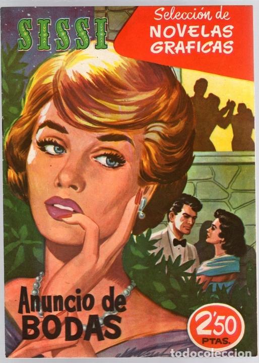 SISSI SELECCION DE NOVELAS GRAFICAS. ANUNCIO DE BODAS. Nº 51. 23 DE MAYO DE 1960. BRUGUERA (Tebeos y Comics - Bruguera - Sissi)