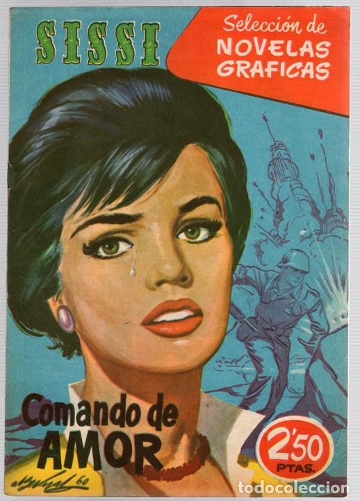 SISSI SELECCION DE NOVELAS GRAFICAS. COMANDO DE AMOR. Nº 52. 30 DE MAYO DE 1960. BRUGUERA (Tebeos y Comics - Bruguera - Sissi)