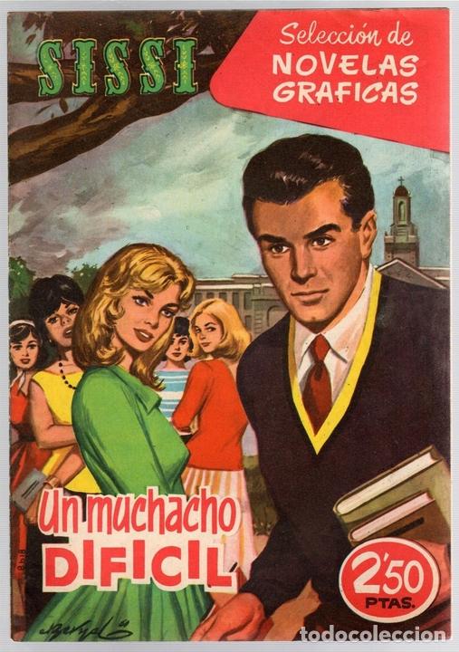 SISSI SELECCION DE NOVELAS GRAFICAS. UN MUCHACHO DIFICIL. Nº 60. 25 DE JULIO DE 1960. BRUGUERA (Tebeos y Comics - Bruguera - Sissi)