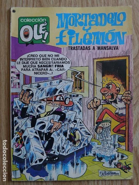 COLECCIÓN OLÉ! - MORTADELO Y FILEMÓN TRASTADAS A MANSALVA ED. BRUGUERA - Nº 140 - 1ª EDICIÓN - 1977 (Tebeos y Comics - Bruguera - Ole)
