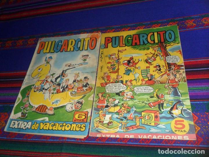 PULGARCITO EXTRA VACACIONES 1959 CON CAPITÁN TRUENO. BRUGUERA 5 PTS. REGALO EL DE 1964. RARO. (Tebeos y Comics - Bruguera - Pulgarcito)