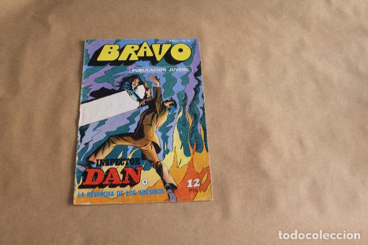 BRAVO Nº 8, CON INSPECTOR DAN, EDITORIAL BRUGUERA (Tebeos y Comics - Bruguera - Bravo)