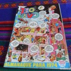 Tebeos: TIO VIVO ALMANAQUE 1974. BRUGUERA 25 PTS.. Lote 121646323