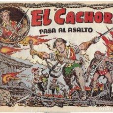 Tebeos: EL CACHORRO Nº 84, IRANZO. EDITORIAL BRUGUERA, ORIGINAL 1954. EL CACHORRO PASA AL ASALTO. Lote 121694283
