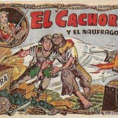 Tebeos: EL CACHORRO Nº 96, IRANZO. EDITORIAL BRUGUERA, ORIGINAL 1955. EL CACHORRO Y EL NÁUFRAGO. Lote 121694775
