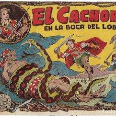 Tebeos: EL CACHORRO Nº 27, IRANZO. EDITORIAL BRUGUERA, ORIGINAL 1952. EL CACHORRO EN LA BOCA DEL LOBO. Lote 121696367