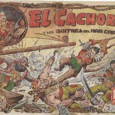 Tebeos: EL CACHORRO Nº 1, IRANZO. EDITORIAL BRUGUERA, ORIGINAL 1951. EL CACHORRO Y LOS BUITRES DEL MAR CARIB. Lote 121698619