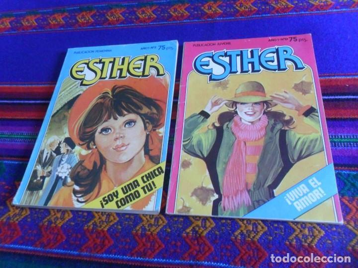 ESTHER FORMATO PEQUEÑO TACO POCKET 2 SOY UNA CHICA COMO TÚ 9 VIVA EL AMOR 12 AMO LA VIDA. (Tebeos y Comics - Bruguera - Esther)