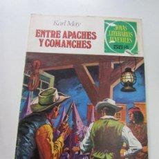 Tebeos: JOYAS LITERARIAS JUVENILES Nº 36 ENTRE APACHES Y COMANCHES BRUGUERA CS121. Lote 121730739