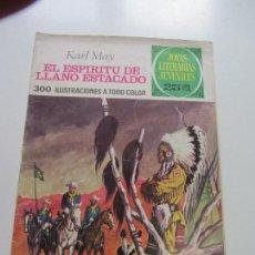 Tebeos: JOYAS LITERARIAS JUVENILES - Nº 172 - EL ESPÍRITU DE LLANO ESTACADO DIFICIL BRUGUERA CS121. Lote 121731215