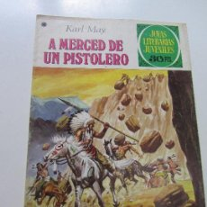 Tebeos: JOYAS LITERARIAS JUVENILES Nº 180 A MERCED DE UN PISTOLERO BRUGUERA CS121. Lote 121731527