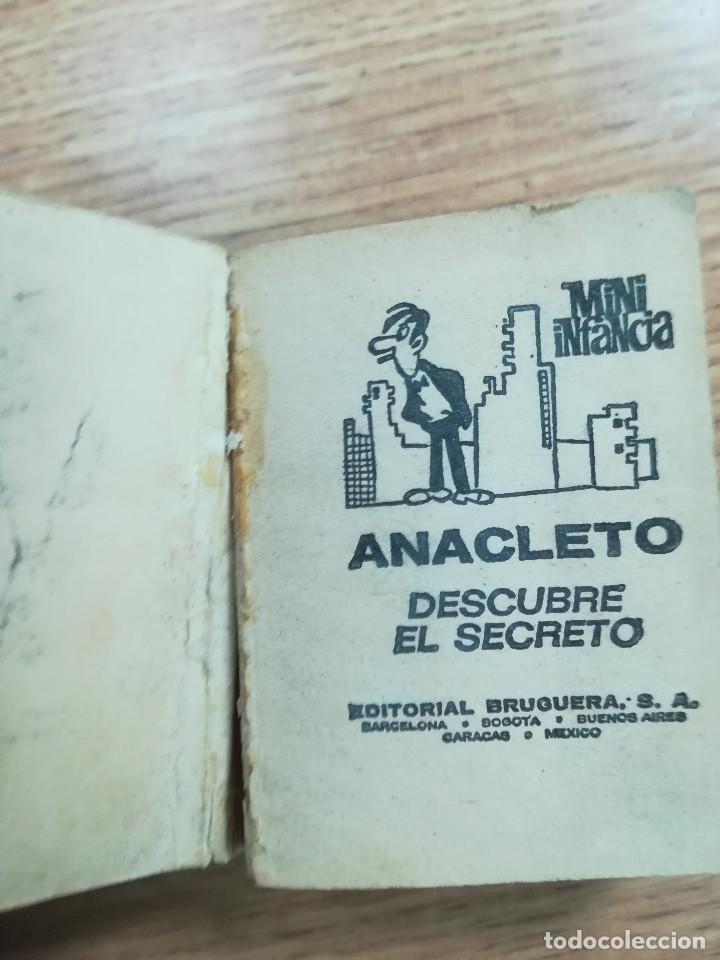 Tebeos: ANACLETO DESCUBRE EL SECRETO (MINI INFANCIA SERIE #6 - #22) (2ª EDICION JULIO 1975) - Foto 2 - 121870311