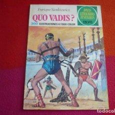 Tebeos: JOYAS LITERARIAS JUVENILES Nº 14 QUO VADIS ( SIENKIEWICZ ) 20 PTS 1974 BRUGUERA 3ª EDICION. Lote 122070587