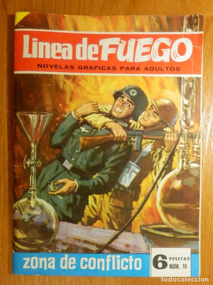 COMIC - LINEA DE FUEGO - ZONA DE CONFLICTO - 16 - BRUGUERA - 1966 (Tebeos y Comics - Bruguera - Otros)