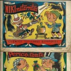 Tebeos: NIKI MATARRATAS Y PERICO EL TONTO - COL. CUENTOS POPULARES ESPAÑOLES - BRUGUERA 1944 - VER DESCRIP.. Lote 122568715