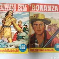Tebeos: COLECCIÓN HÉROES EDITORIAL BRUGUERA BÚFALO BILL Y BONANZA. Lote 122626642