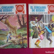 Tebeos: EL CORSARIO DE HIERRO NºS 24 Y 25 1978 1ª EDICION JOYAS LITERARIAS JUVENILES SERIE ROJA BRUGUERA. Lote 122747531