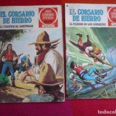 Tebeos: EL CORSARIO DE HIERRO NºS 26 Y 27 1978 1ª EDICION JOYAS LITERARIAS JUVENILES SERIE ROJA BRUGUERA. Lote 122747703