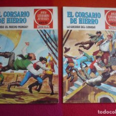 Tebeos: EL CORSARIO DE HIERRO NºS 28 Y 29 1978 1ª EDICION JOYAS LITERARIAS JUVENILES SERIE ROJA BRUGUERA. Lote 124873051