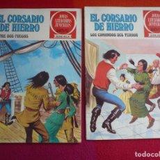 Tebeos: EL CORSARIO DE HIERRO NºS 30 Y 31 1978 1ª EDICION JOYAS LITERARIAS JUVENILES SERIE ROJA BRUGUERA. Lote 122748871