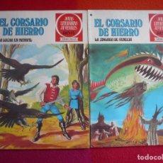 Tebeos: EL CORSARIO DE HIERRO NºS 38 Y 39 1978 1ª EDICION JOYAS LITERARIAS JUVENILES SERIE ROJA BRUGUERA. Lote 122749303