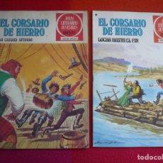 Tebeos: EL CORSARIO DE HIERRO NºS 44 Y 45 1978 1ª EDICION JOYAS LITERARIAS JUVENILES SERIE ROJA BRUGUERA. Lote 173440010