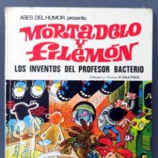 Tebeos: MORTADELO Y FILEMÓN LOS INVENTOS DEL PROFESOR BACTERIO ASES DEL HUMOR Nº 14 BRUGUERA 1972 1ª EDICIÓN. Lote 123691399