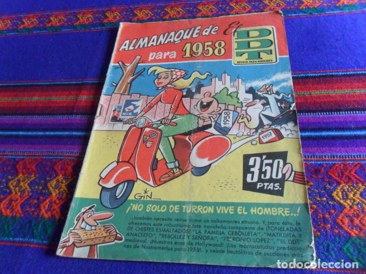 Tebeos: DDT ALMANAQUE 1958 1959 Y EXTRA VERANO 1960. BRUGUERA ORIGINALES. BE. - Foto 2 - 68811421