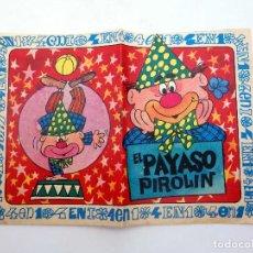 Giornalini: COLECCIÓN 4 EN 1. EL PAYASO PIROLIN (ALBERTO SOLSONA PLA) BRUGUERA, 1968. Lote 124878386