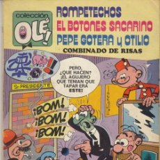 Giornalini: ROMPETECHOS EL BOTONES SACARINO PEPE GOTERA Y OTILIO - OLE Nº 109 - 1ª EDICION NUMERADO EN EL LOMO. Lote 125128443