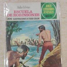 Tebeos: JOYAS LITERARIAS JUVENILES NÚM. 108 - ESCUELA DE ROBINSONES- PRIMERA EDICIÓN.. Lote 125149563