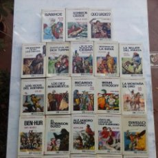Tebeos: HISTORIAS SELECCION 23 LIBROS - SALGARI, KARL MAY, JULIO VERNE, FENIMORE COOPER, ELLIOT DOOLEY. Lote 125169463