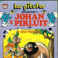 Tebeos: OLE LOS PITUFOS Nº 19 - JOHAN Y PIRLUIT - EL AGUA PRODIGIOSA - BRUGUERA 1983 1ª EDICION, MUY DIFICIL. Lote 125234687