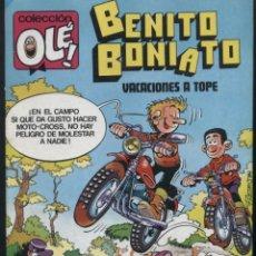 Tebeos: BENITO BONIATO VACACIONES A TOPE - OLE 7 - PRIMERA EDICIÓN 1984. Lote 125308779