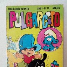 Tebeos: PULGARCITO Nº 18. LOS PITUFOS, TOM Y JERRY, EL PROFESOR TRAGACANTO.... Lote 125311971