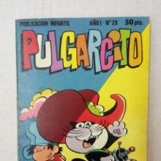 Tebeos: PULGARCITO Nº 29. PARDO Y PARDITO, LOS PITUFOS, TETE COHETE.... Lote 125312279
