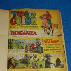 Tebeos: (M) TELE COLOR - DOS VOLUMENES DEL NUMERO 157 AL NUM 230 ,ENCUADERNADO ,EDT BRUGUERA SEÑALES DE USO. Lote 125383451