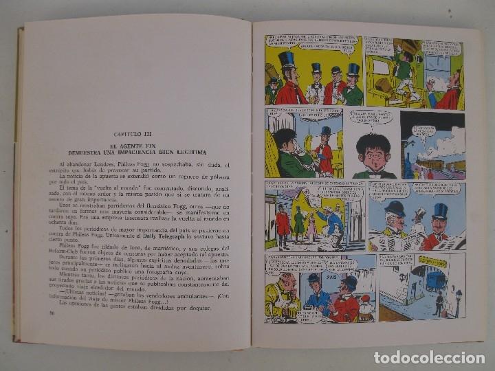Tebeos: LA VUELTA AL MUNDO EN OCHENTA DIAS - JULIO VERNE - HISTORIAS COLOR - SERIE J. VERNE Nº 3 - BRUGUERA. - Foto 2 - 125399795