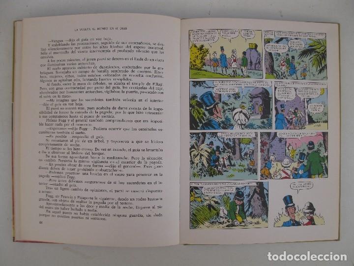 Tebeos: LA VUELTA AL MUNDO EN OCHENTA DIAS - JULIO VERNE - HISTORIAS COLOR - SERIE J. VERNE Nº 3 - BRUGUERA. - Foto 3 - 125399795